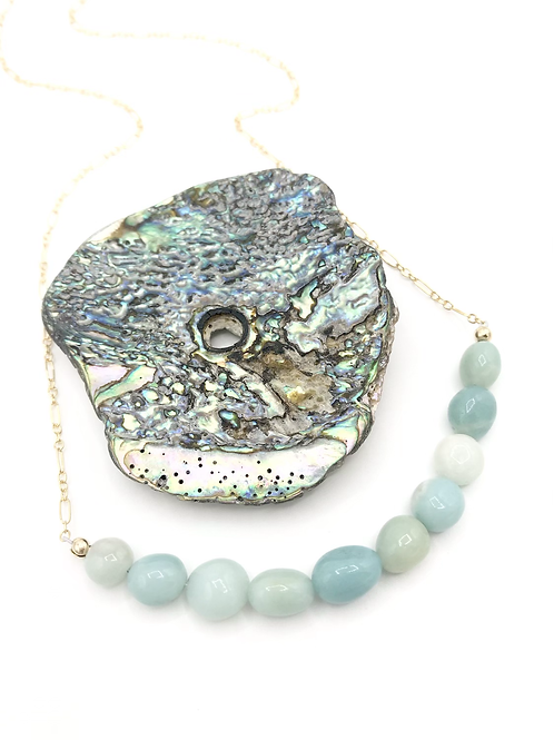 Amazonite Half Moon XL Necklace