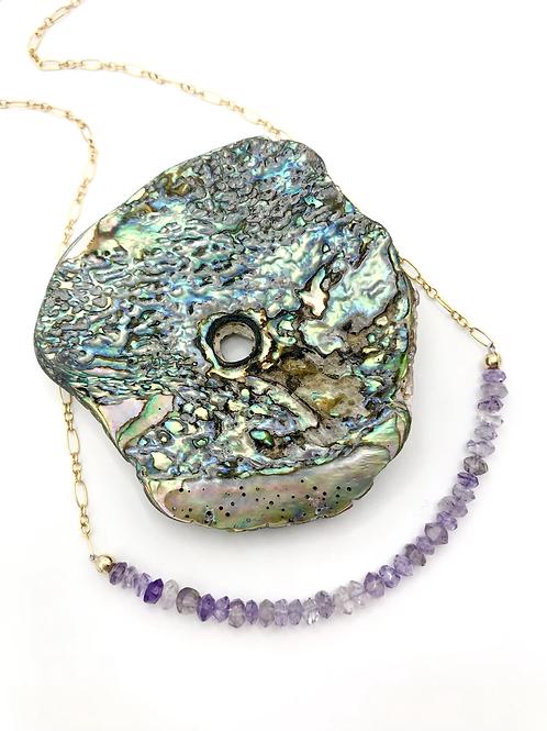 Amethyst Half Moon Necklace