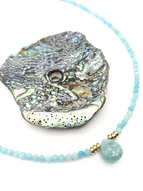Amazonite Drop Necklace
