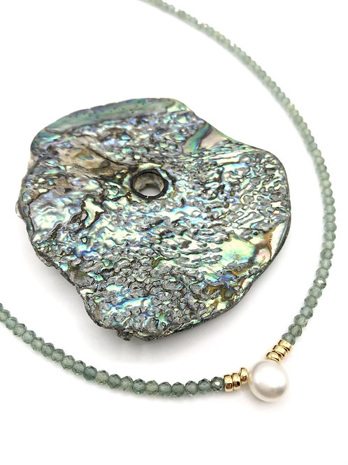 Green Apatite Tidal Pool Necklace