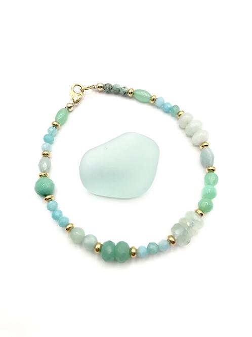 Amazonite Ombré Layering Bracelet