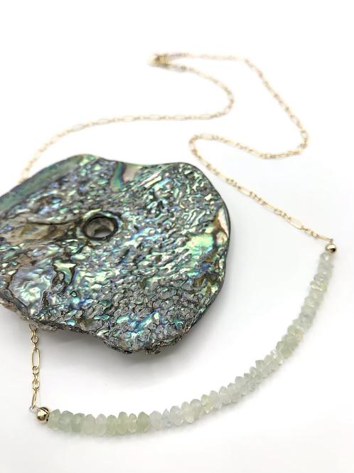 Prehnite Half Moon Necklace