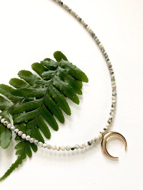 Granite Crescent Necklace