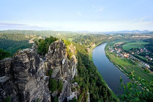 Tschechien Elbsandsteingebirge Fluss Ber
