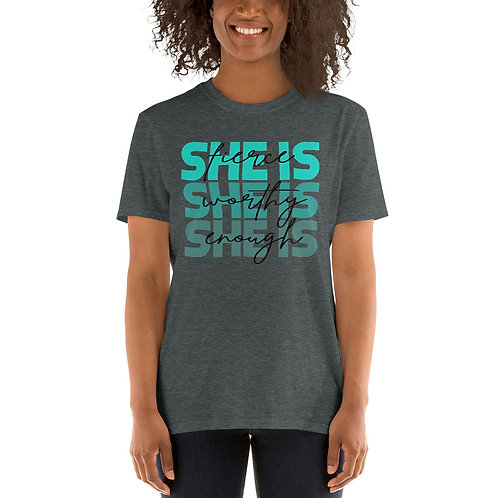 SHE IS Teal & Black (Adult)