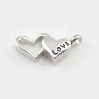 Charm Love 2 Hearts