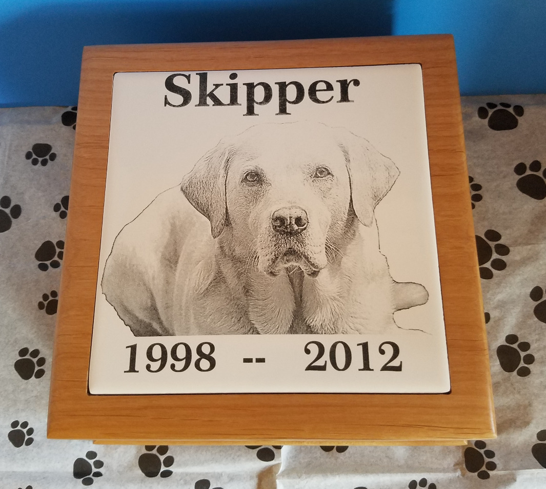 Pet Photo Laser Engraved!