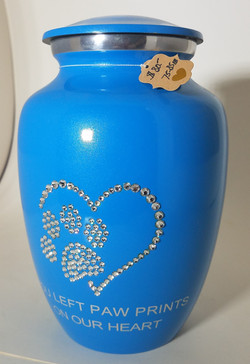 Blue Urn w/Swarovski Crystals