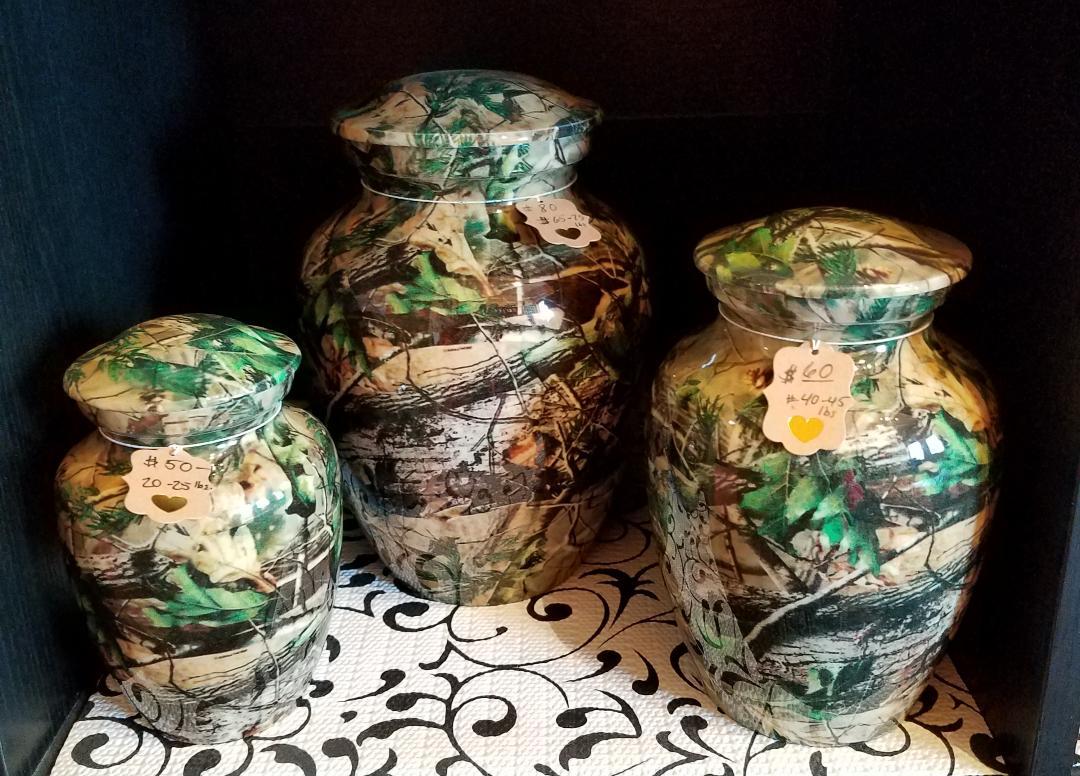 Camo Green Urns
