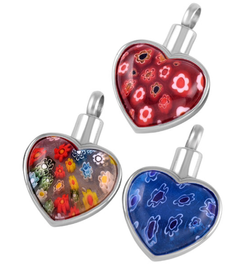 Glass Flower Hearts
