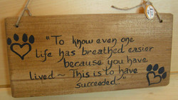 Wood Sign - $7