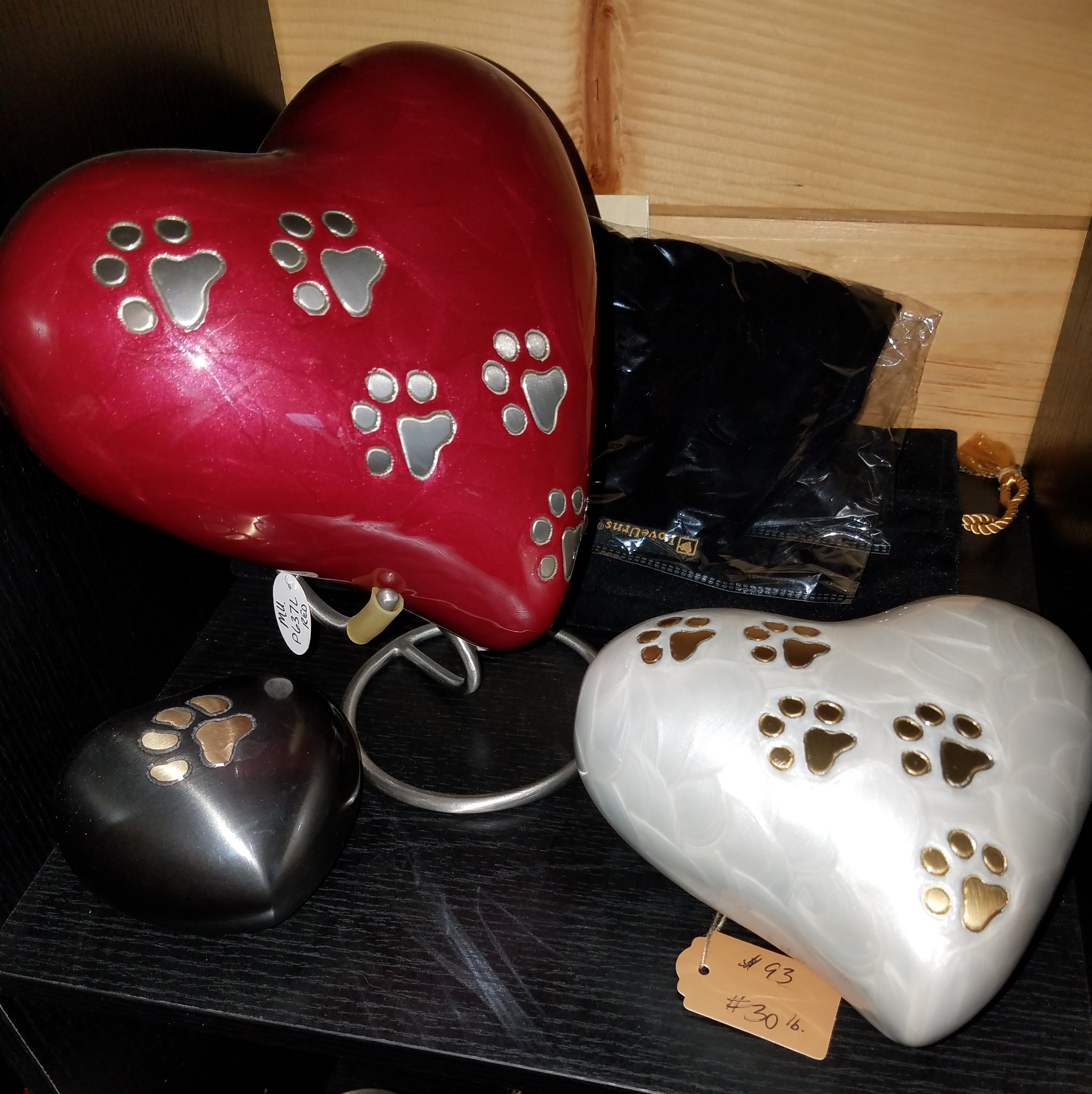 Glazed Heart Urn