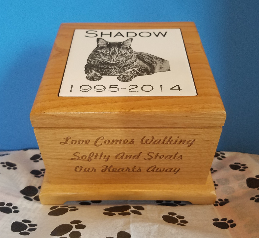 Laser Engraved Wood Urn