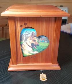 Wood Photo Heart Cedar