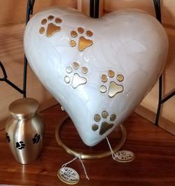 Glazed Heart Urn