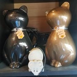 Ceramic on Metal Kitty Urns