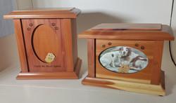 Wood Photo Urns