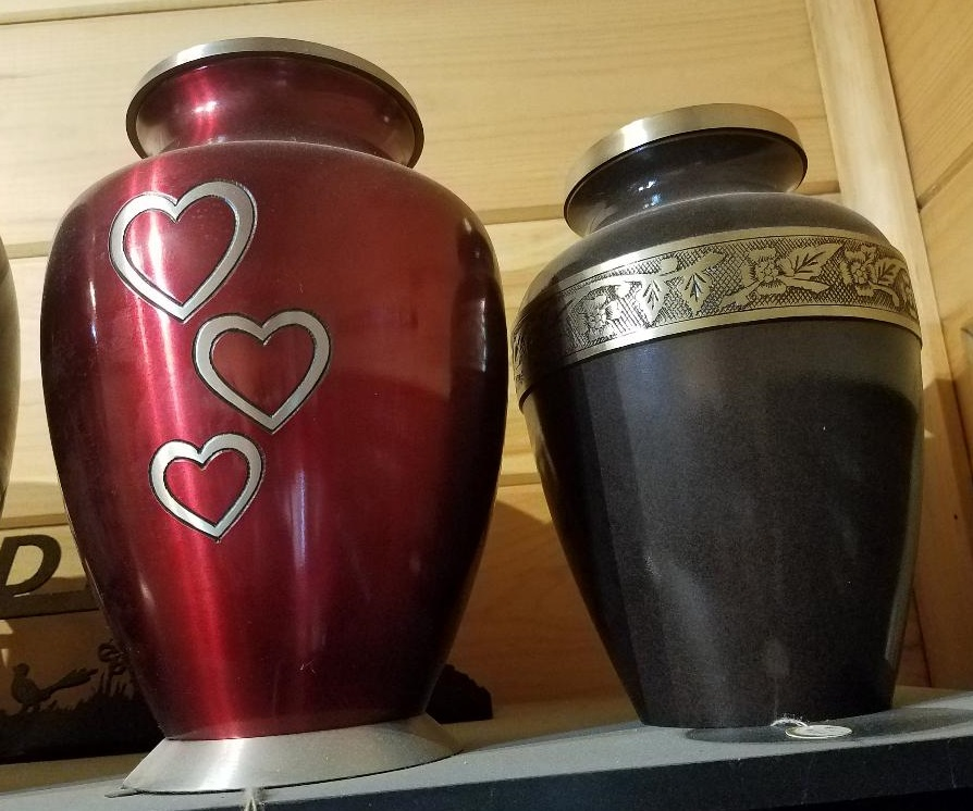 Red Hearts and Black Banded Urns