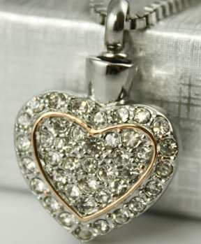Charm Dbl Heart Diamond Crystals