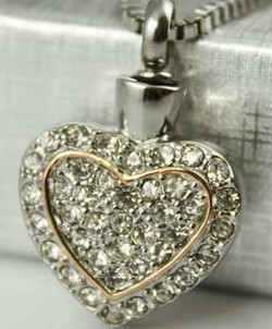 Charm Dbl Heart Diamond Crystals
