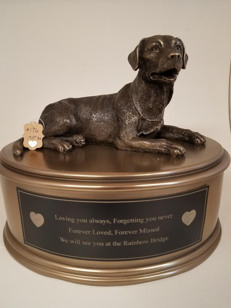 Breed Bronze With Plaque - Lab