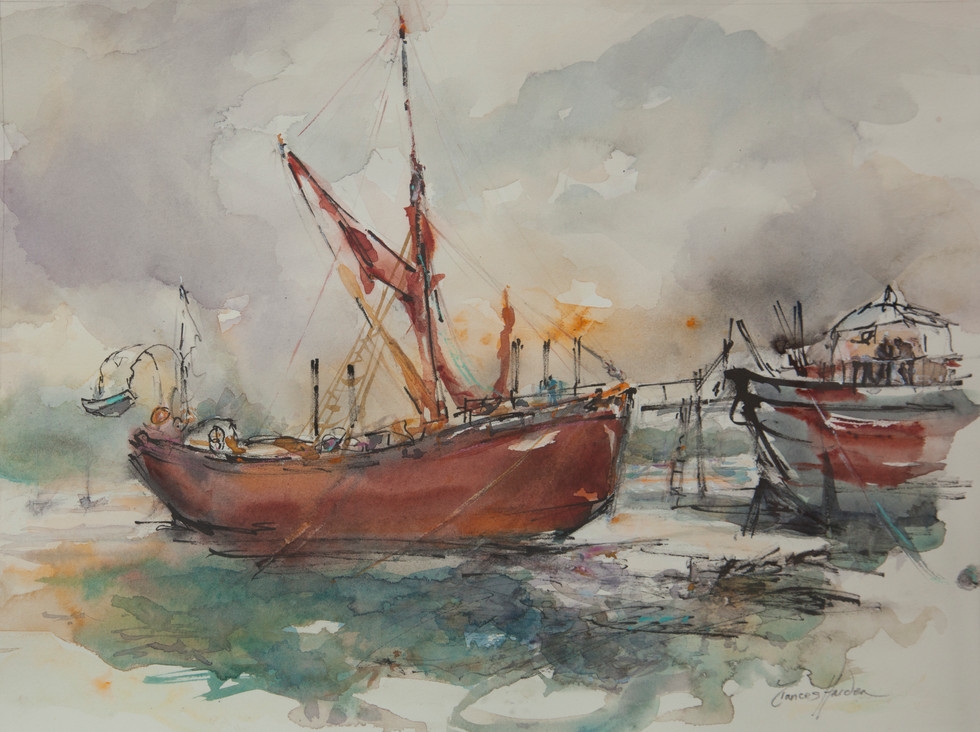Thames Barge Pin Mill - SOLD