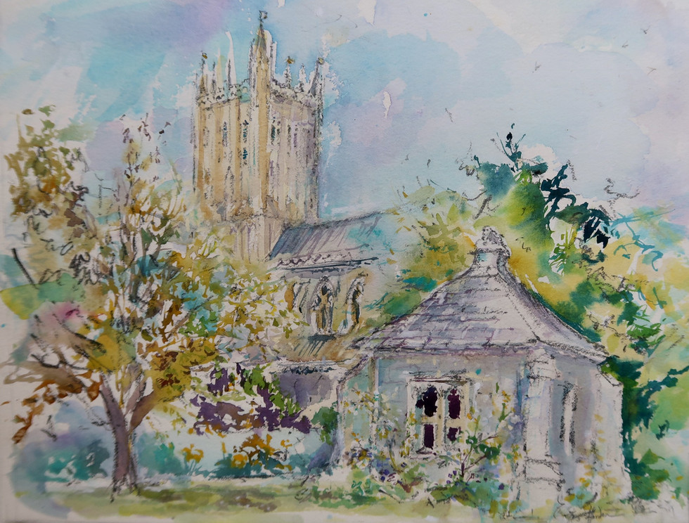 The Cathedral From The Bishops Palace - SOLD