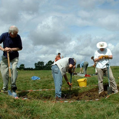 Hill top excavation