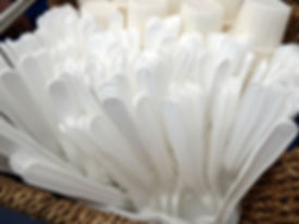 Injection moulded polystyrene plastic cutlery