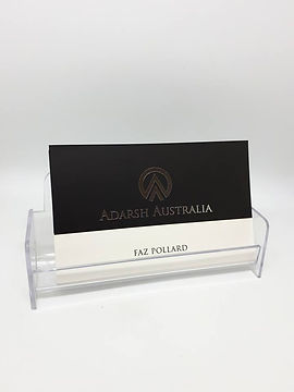 Injection moulded acrylic (PMMA) plastic card holder