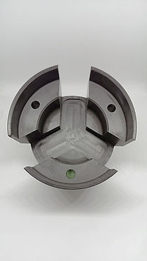 Injection moulded and machined acetal (POM) part