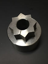EDM wire cutting sample of custom steel component