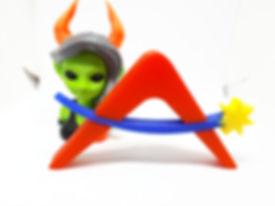 3D printed Afaridan plastic logo prototype PLA plastic