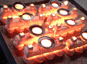 Investment casting or lost wax casting process