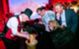 Dallas Magician Marty Westerman performing close-up sleight-of-hand magic
