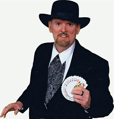 Magician Marty Westerman Dallas Texas performs as a Western Gamble for Western theme events