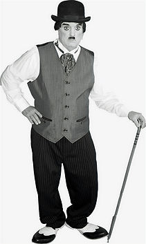 "Dallas Texas Magician Marty Westerman aka ""Charlie Chaplin"" look alike impersonator who can perform close-up street and stage magic"