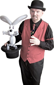 "Dallas Texas Magician Marty Westerman aka ""The Balloon Master"" creates all sorts of balloon sculptures"