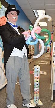 "Dallas Texas Magician Marty Westerman aka ""Rich Uncle Pennybag"" Monopoly Man"