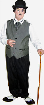 "Dallas Texas Magician Marty Westerman aka ""Charlie Chaplin""look alike celebrity impersonator"