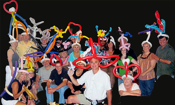 Dallas Texas Magician Marty Westerman not only performs close-up comedy street and stage magic but balloons for corporate and private events