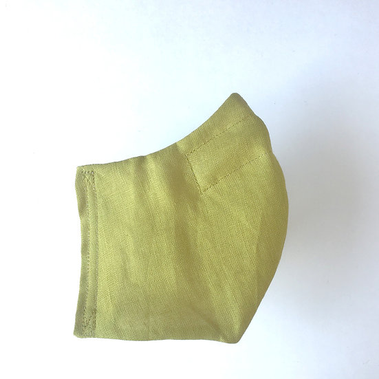 Olive Green Linen Mask