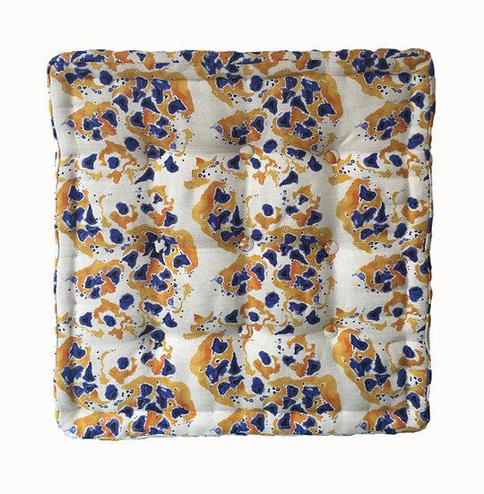 Inky Seeds French Floor Cushion