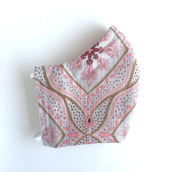 Pink Pattern Cotton Mask