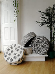 French Floor Cushions & Poufs