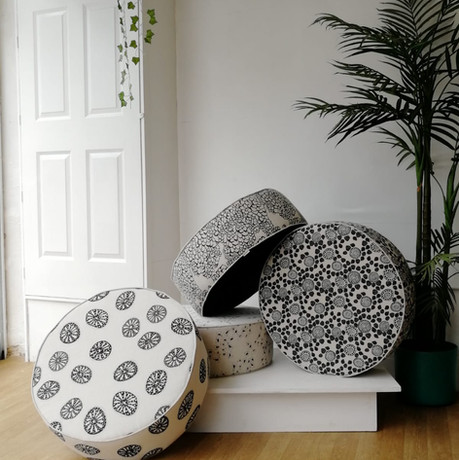 Floor Pouffes in 'Monochrome' Collection