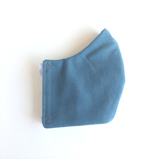 Petrol Blue Cotton Mask