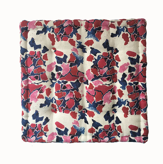 Pink & Blue French Floor Cushion