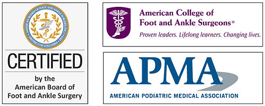 Certified by the American Board of Foot and Ankle Surgery
