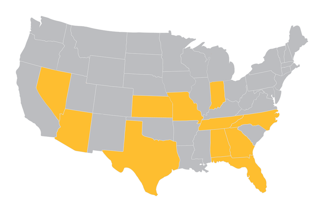 Nationwide Presence Map